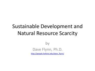 Sustainable Development and Natural Resource Scarcity