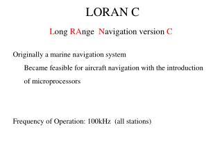 LORAN C