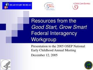 Resources from the  Good Start, Grow Smart Federal Interagency Workgroup