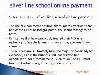 view about silver line school online payment