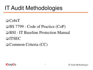 IT Audit Methodologies