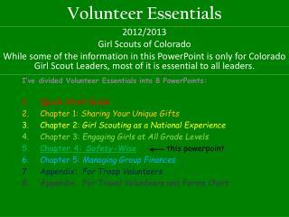 Volunteer Essentials