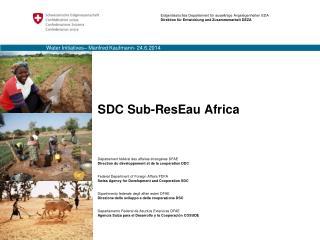 SDC Sub-ResEau Africa
