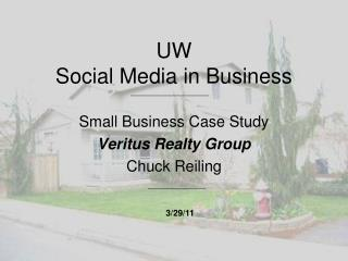 UW Social Media in Business