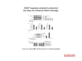 G He  et al. Nature 467 , 95-98 (2010) doi:10.1038/nature09325
