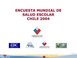 ENCUESTA MUNDIAL DE  SALUD ESCOLAR  CHILE 2004