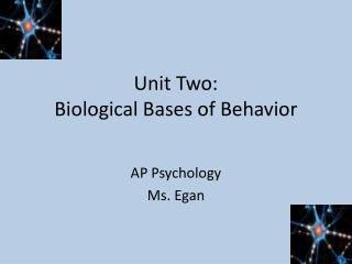 Unit Two: Biological Bases of Behavior