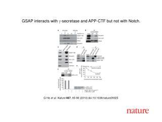 G He  et al. Nature 467 , 95-98 (2010) doi:10.1038/nature09325