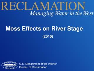 Moss Effects on River Stage (2010)