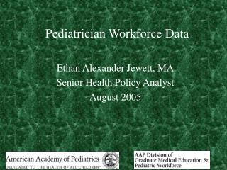 Pediatrician Workforce Data