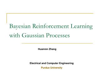 Bayesian Reinforcement Learning with Gaussian Processes