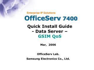OfficeServ  7400