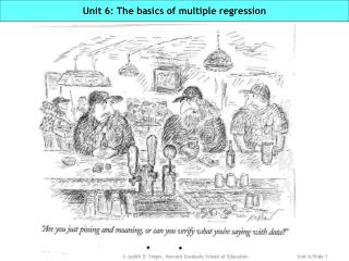 Unit 6: The basics of multiple regression
