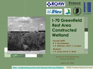 I-70 Greenfield Rest Area Constructed Wetland