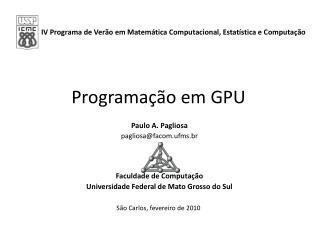 Programação em GPU