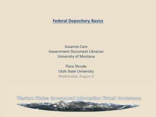 Federal Depository Basics
