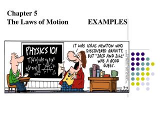 Chapter 5 The Laws of Motion           EXAMPLES