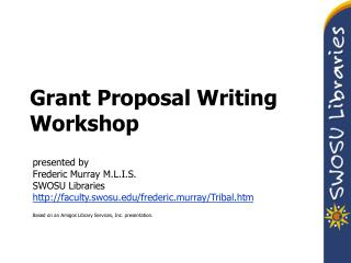 Grant Proposal Writing Workshop