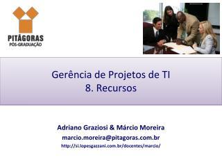 Gerência de Projetos de TI 8. Recursos