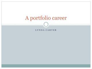 A portfolio career