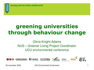 Greening Universities