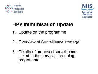 HPV Immunisation update