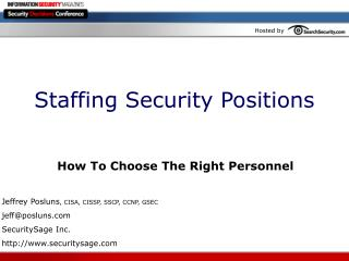 Staffing Security Positions