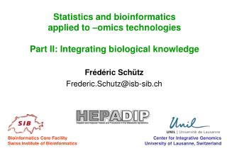 Frédéric Schütz Frederic.Schutz@isb-sib.ch