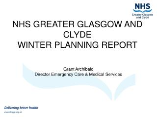 NHS GREATER GLASGOW AND CLYDE WINTER PLANNING REPORT