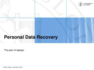 Personal Data Recovery