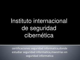 Certificaciones seguridad informatica