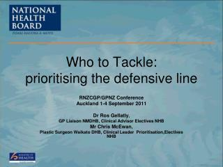 Who to Tackle: prioritising the defensive line