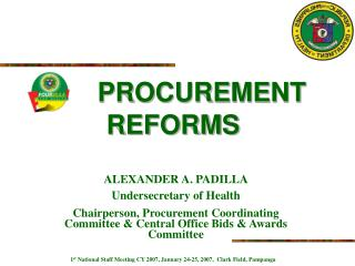 PROCUREMENT REFORMS