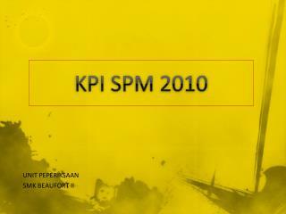 KPI SPM 2010