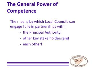 The General Power of Competence