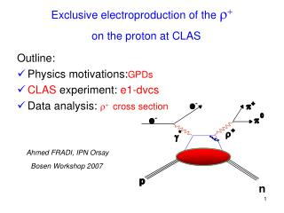 Exclusive electroproduction of the  r + on the proton at CLAS
