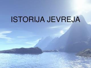 ISTORIJA JEVREJA