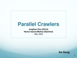 Parallel Crawlers