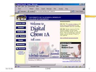 Digital Chemistry at UC Berkeley