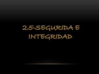 2.5-SEGURIDA E  INTEGRIDAD