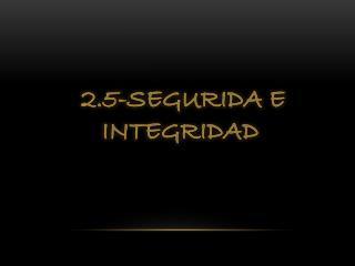 2.5-SEGURIDA E  INTEGRIDAD