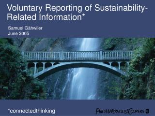 Voluntary Reporting of Sustainability-Related Information