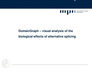 DomainGraph – visual analysis of the biological effects of alternative splicing