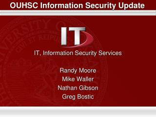 OUHSC Information Security Update