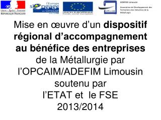 ADEFIM Limousin Association de Développement des Formations des Industries de la Métallurgie