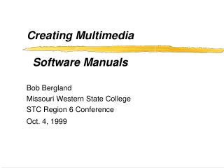 Creating Multimedia   Software Manuals