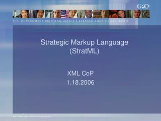Strategic Markup Language (StratML)