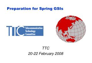 Preparation for Spring GSIs