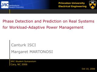 Phase Detection and Prediction on Real Systems for Workload-Adaptive Power Management