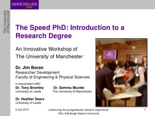 The Speed PhD: Introduction to a Research Degree